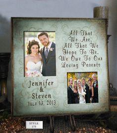 Personalized Wedding Photo Frame OWE 16x16  by PhotoFrameCompany, $69.00