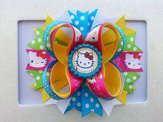 Hello Kitty Hair Bow /Hello Kitty Birthday Hair by DLovelyBOWtique, $10.00
