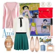 Ami by sailormooncloset on Polyvore featuring polyvore fashion style FTC Cashmere River Island Topshop KORS Michael Kors The Cambridge Satchel Company Juicy Couture Henri Bendel New Look Giorgio Armani Christian Dior Essie Mizuno clothing sailor moon