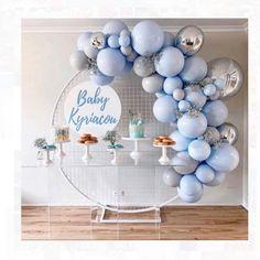 baby shower ideas for boys; Balloon Arch Diy, Balloon Garland, Balloon Decorations, Birthday Decorations, Baby Shower Decorations, Cute Baby Shower Ideas, Boy Baby Shower Themes, Baby Shower Balloons, Baby Boy Shower