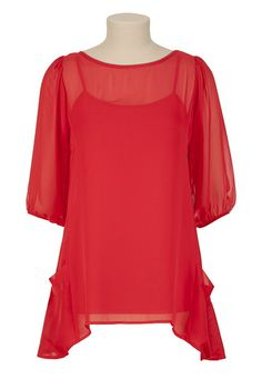 3/4 Sleeve Relaxed Shirt with Tank....with some skinny jeans = perfect!