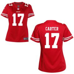 Women's San Francisco 49ers Nike Scarlet Custom Game Jersey ❤ liked on Polyvore