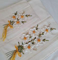 Have Fun with Silk-Ribbon Embroidery Silk Ribbon Embroidery, Embroidery Stitches, Hand Embroidery, Ribbon Projects, Sewing Projects, Polish Folk Art, Kids Dress Patterns, Brazilian Embroidery, Ribbon Art