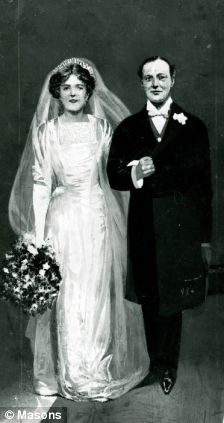 The marriage of Clementine Hozier and Winston Churchill, on this day 12th September, 1908