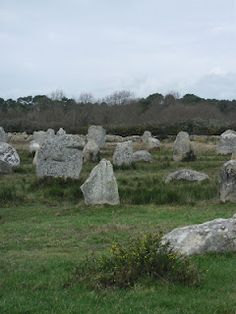 Carnac France Electromagnetic fields created by ancient stone placement.