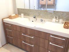 私のこだわりの洗面台。 | おうちと暮らしのレシピ 〜HOME&LIFE〜 Interior Design Inspiration, Double Vanity, Bathroom, Yuki, Home, Washroom, Bath Room, Ad Home, Double Sink Vanity