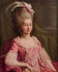Today's #georgianjanuary is Pink - here is Maria Teresa of Savoy, countess of Artois, by an unknown artist, c. 1780 (possibly earlier) - this was one of the references for my pink polonaise.
