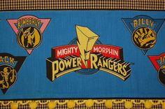 mighty morphin power rangers retro tea towel by handyjan on Etsy, $12.00