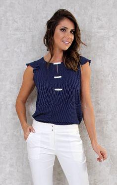 169 Melhores Imagens De Blusas Azul Marrom Blusas Blusa