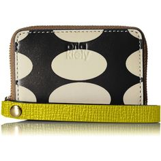 Orla Kiely Oval Printed Leather Mini Hanging Zip Wallet ($116) ❤ liked on Polyvore featuring bags, wallets, orla kiely wallet, loop wallet, mini leather wallet, zipper bag and leather bags