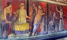 Картинки по запросу Roman art: Frescoes in the Villa of the Mysteries,Pompeii.