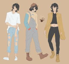 """gretashand: """"more casual wear keiths for my self-indulgent heart """" Voltron Cosplay, Voltron Fanart, Voltron Klance, Fashion Design Drawings, Fashion Sketches, Anime Outfits, Cool Outfits, Boy Drawing, Casual Cosplay"""