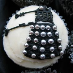 Dalek cupcake -- complete with ball bearings you can eat