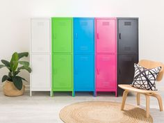 For sturdy, industrial chic, you're sure to love our new Mocka Locka - Double - White. These storage cabinets are ideal for bedrooms, kid's playrooms and home offices. Kids Furniture, Living Room Furniture, Modern Furniture, Furniture Storage, Metal Storage Cabinets, Locker Storage, Entryway Storage, Locker Designs, Colors
