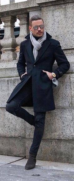 The Most Cool Casual Winter Fashion Outfits For Men 02 Stylish Mens Outfits, Winter Fashion Casual, Winter Fashion Outfits, Casual Winter, Winter Wear Men, Winter Outfit For Men, Mens Winter Coat, Casual Outfits, Fashion Mode