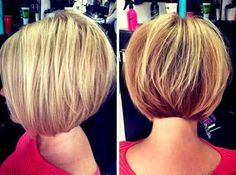 18 Best New Short Layered Bob Hairstyles - PoPular Haircuts Bob Frisur Bob Frisuren Short Stacked Haircuts, Stacked Bob Hairstyles, Short Bob Haircuts, Short Hair Cuts, Short Hair Styles, Bobbed Haircuts, Short Pixie, Short Bobs, Aline Haircuts