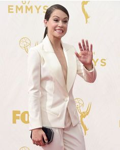 But she's also able to totally kill it on the red carpet. This suit is CHANGING LIVES. Tatiana Maslany, Tony Goldwyn, Trans Man, Michelle Dockery, The Emmys, Canadian Actresses, Justin Trudeau, Orphan Black, Rupaul