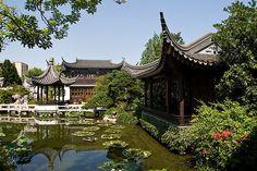 Chinese Gardens -- downtown Portland, Oregon.