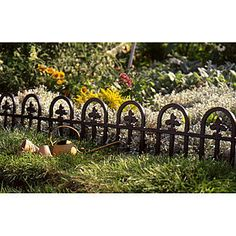 19th C Cast Iron Garden Edging | Garden | Pinterest | Garden edging Wrought Iron Round Garden Designs Html on round swimming pool designs, round tree house designs, round stained glass designs, round jewelry designs, round patio designs, round kitchen designs, round gate designs, round chimney designs, round picket fence designs, round ironwork designs, round art designs, round pottery designs,