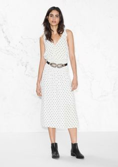 & Other Stories image 2 of Dotted Dress in White Dotted