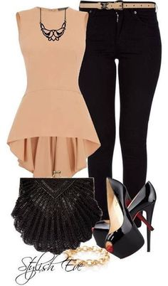 This is super cute, and I've always wanted to try a peplum top, just not sure how it would look with my body type.
