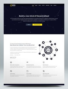 Crypto BlockChain HTML5 Website Template Html Website Templates, Browser Support, Blog Layout, Business Website, Blockchain, Design