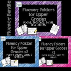 Fluency Folders for Upper Grades is a collection of poems, songs, quotes, and speeches that teach about Americas history as students focus on reading fluency. Common Core Anchor Reading Standards posters can also be used to remind students of the strategi