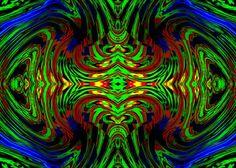 Ángeles de color verde