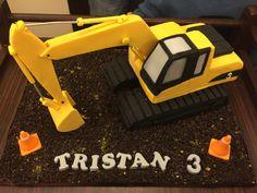 Excavator Birthday Cake 5th Birthday, Birthday Cake, Birthday Ideas, Excavator Cake, Digger Party, Construction Party, Diy Cake, Cool Nail Art, Kids Meals