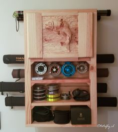 Diy Cat Bed, Rod Rack, Fly Rods, Fly Fishing, Wine Rack, Woodworking, Cabinet, Storage, Soup
