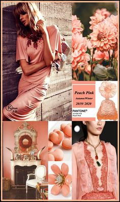 '' Peach Pink '' Pantone - Autumn/ Winter 2019/ 2020 Color'' by Reyhan S.D.