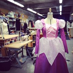 Who know plastic fabric could be so pretty? Disney-esque princess dress designed by Mike Floyd. #costumedesign #costume #princess