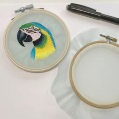 Ribbon Embroidery Tutorial, Basic Embroidery Stitches, Hungarian Embroidery, Simple Embroidery, Silk Ribbon Embroidery, Hand Embroidery Patterns, Vintage Embroidery, Agnus Day, Portrait Embroidery