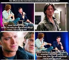 Don't forget that Jared and Jensen get emotional over the show too, they've even cried about filming a few scenes cause they were so hard to do