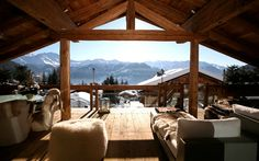 Gorgeous view at Chalet Spa Blanche in Verbier ,...❤️❄️