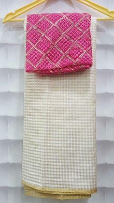 Venkatagiri Checks Saree With Designer Blouse   Buy Online Sarees   Elegant Fashion Wear