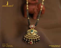 Gold 916 Premium Design Get in touch with us on Diamond Mangalsutra, Gold Mangalsutra Designs, Gold Ring Designs, Gold Jewellery Design, Gold Rings Jewelry, Beaded Jewelry, Rust Orange, Gold Bangle Bracelet, India Jewelry