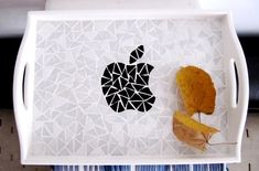 Apple Tray  Serving Tray  Decorative Tray  Mosaic Tray by byGuls