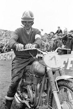 Sten Lundin on Monarl - Motocross Sittendorf/Austria - 1960