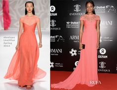 Naomie Harris In Monique Lhuillier - Oxfam Charity Gala