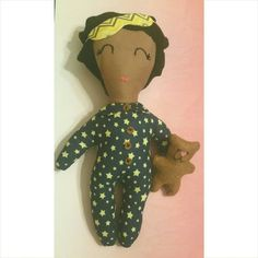 Hey, I found this really awesome Etsy listing at https://www.etsy.com/listing/232568722/sleepy-time-doll-brown-skin-blue-star