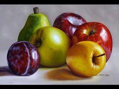 Pintura al Oleo Como Pintar Cerezas DIY *Cherry Oil Painting* Pintar Cuadros Modernos Pintura Facil - YouTube