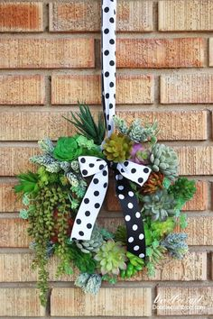 Make a gorgeous succulent wreath using fake succulent picks, perfect for upkeep!