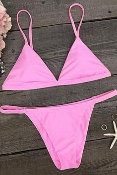217118c7d1f86 Cupshe View Over You Solid Color Bikini Set  swimwear bikini beach style