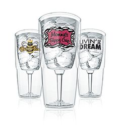 My favorite new thing!!!!  I have been waiting for Tervis to come out with these wine glasses:-)  Products - Tervis Insulated Tumblers - Mugs - Water Bottles - Gifts