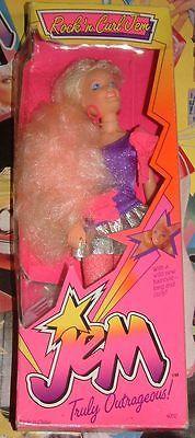 RARE Jem The Holograms Rock N Curl Hasbro Doll 80s Misfits Gem Cartoon