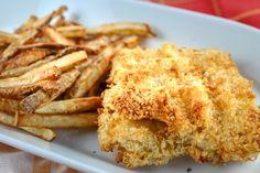 Healthy Air Fryer Fish & Chips Best Fish Recipes, Cod Recipes, Other Recipes, Air Fryer Cod Recipe, Air Fryer Recipes, Healthy Cooking, Eat Healthy, Breaded Cod, Cut Recipe In Half