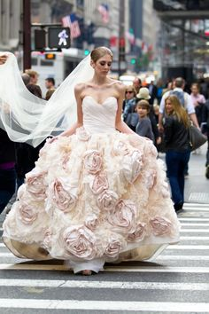 Ok... not in a garden setting BUT... with it's countless beautiful flower blooms on this wonderful dress... we think it qualifies for our repinning!