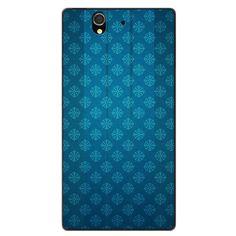 Sony Xperia Z Glass On A Pattern Blue Case