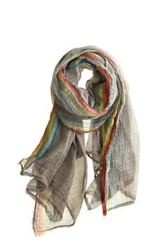 grey/rainbow scarf